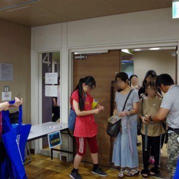 電脳音楽オンラインサロン会員も入場の対応を行った photo by goma