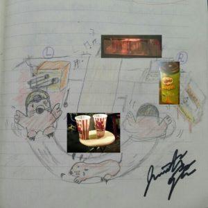 Ojjy氏のスタジオでの工程のイメージデッサン