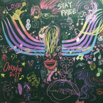 入り口の黒板シートに描かれたチョークアート