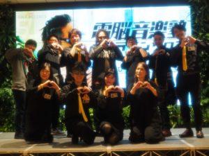 電脳音楽塾プロジェクトオーナーINA氏(後列中央)とサロン会員一同