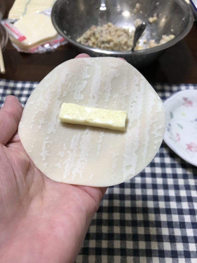 トッピングにチーズを入れる