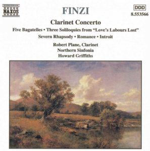 Clarinet Concerto NAXOS盤ジャケット写真